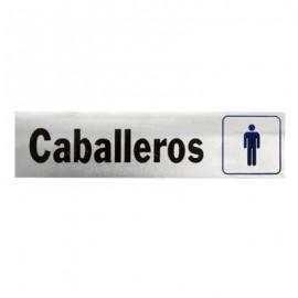 LETRERO DE ALUMINIO CABALLEROS HY-KO.