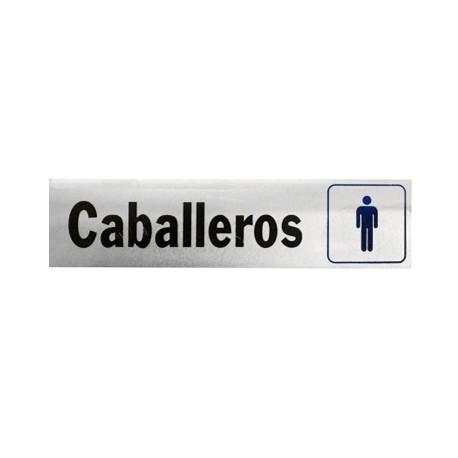 LETRERO DE ALUMINIO CABALLEROS HY-KO. - Envío Gratuito