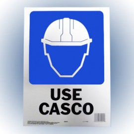 LETRERO USE CASCO 25x36 cm. HY-KO