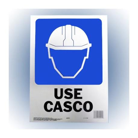LETRERO USE CASCO 25x36 cm. HY-KO - Envío Gratuito