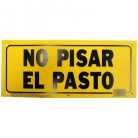 LETRERO 15x35 cm NO PISAR EL PASTO HY-KO.
