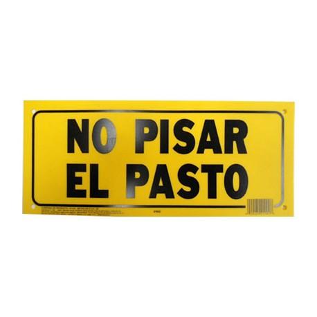 LETRERO 15x35 cm NO PISAR EL PASTO HY-KO. - Envío Gratuito