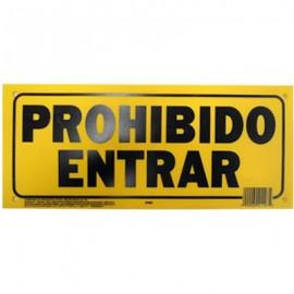 LETRERO 15x35cm PROHIBIDO ENTRAR HY-KO