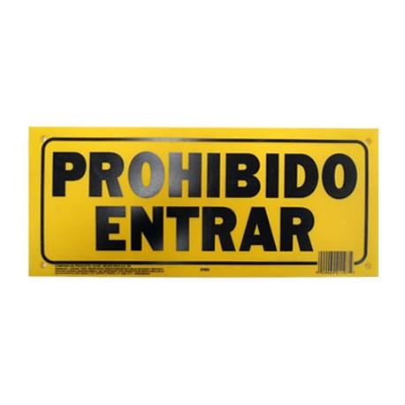 LETRERO 15x35cm PROHIBIDO ENTRAR HY-KO - Envío Gratuito