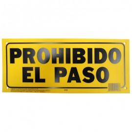 LETRERO 15x35cm PROHIBIDO EL PASO HY-KO.