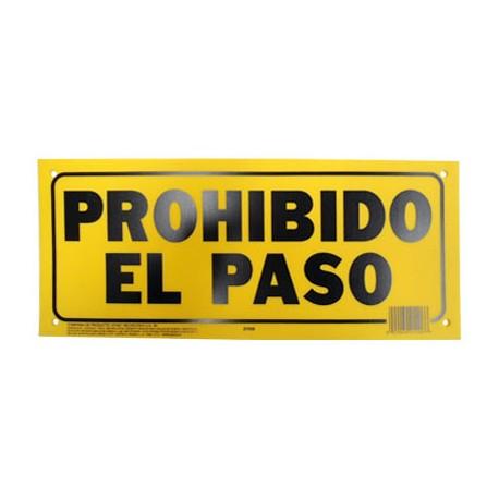 LETRERO 15x35cm PROHIBIDO EL PASO HY-KO. - Envío Gratuito