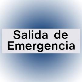 LETRERO SALIDA DE EMERGENCIA 7.6x22.8 cm. HY-KO