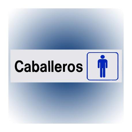 LETRERO CABALLEROS 7.6x22.8 cm. HY-KO - Envío Gratuito