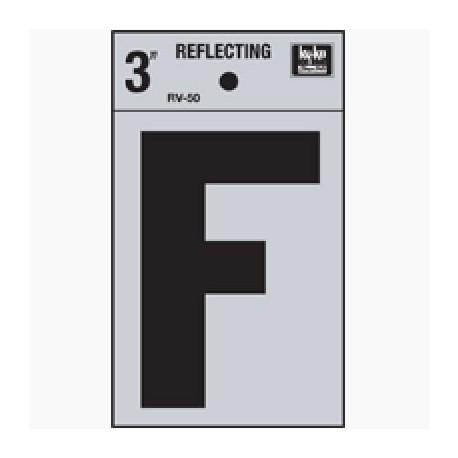 LETRA REFLECTIVA 3 PULGADAS F HY-KO - Envío Gratuito