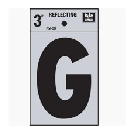 LETRA REFLECTIVA 3 PULGADAS G HY-KO - Envío Gratuito