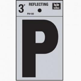 LETRA REFLECTIVA 3 PULGADAS P HY-KO.