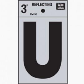 LETRA REFLECTIVA 3 PULGADAS U HY-KO