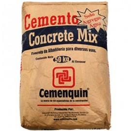 CONCRETO PREPARADO 40kg CONCRETE MIX CEMENQUIN - Envío Gratuito