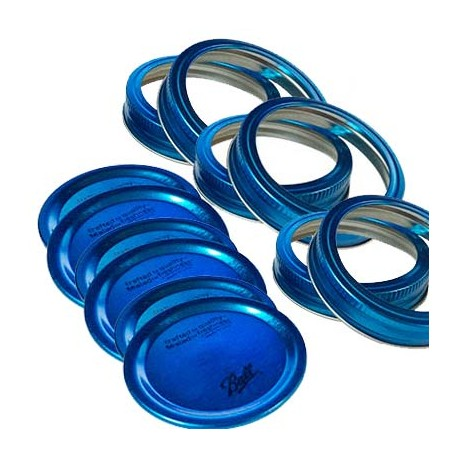TAPAS Y AROS PARA FRASCOS AZUL COLLECTION ELITE BALL BOCA REG 6-PK - Envío Gratuito
