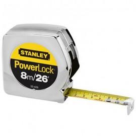 CINTA METRICA POWERLOCK 8m 33-428 STANLEY. - Envío Gratuito