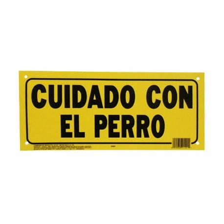 LETRERO 15x35cm CUIDADO CON EL PERRO HY-KO - Envío Gratuito