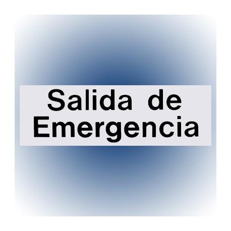 LETRERO SALIDA DE EMERGENCIA 7.6x22.8 cm. HY-KO - Envío Gratuito