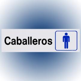 LETRERO CABALLEROS 7.6x22.8 cm. HY-KO