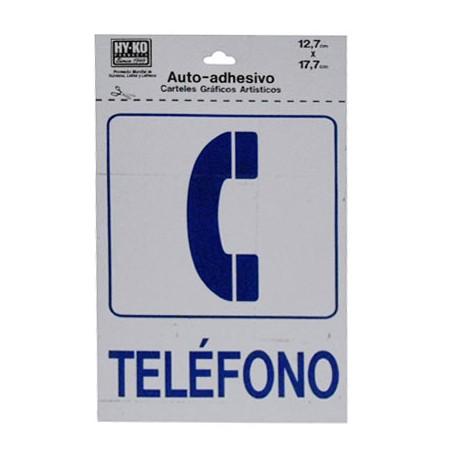 LETRERO 12.7x17.7cm TELEFONO HY-KO - Envío Gratuito