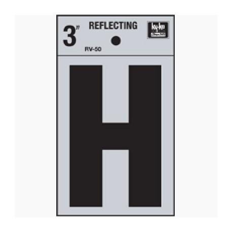 LETRA REFLECTIVA 3 H HY-KO. - Envío Gratuito