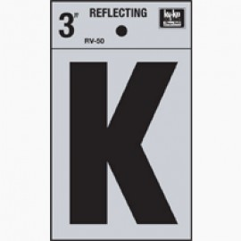 LETRA REFLECTIVA 3 PULGADAS K HY-KO.