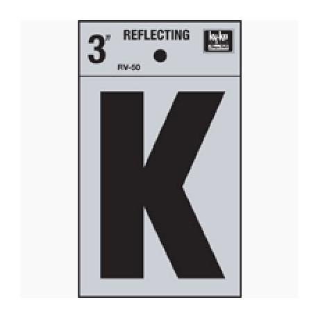 LETRA REFLECTIVA 3 PULGADAS K HY-KO. - Envío Gratuito