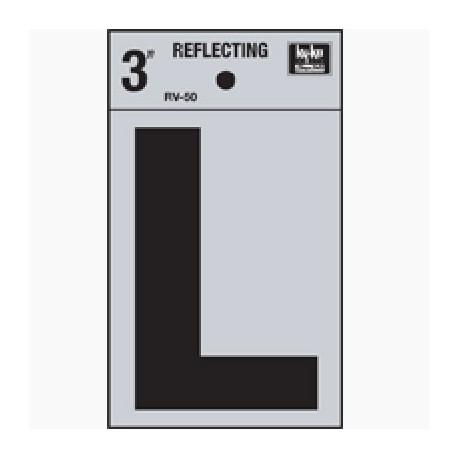 LETRA REFLECTIVA 3 L HY-KO - Envío Gratuito