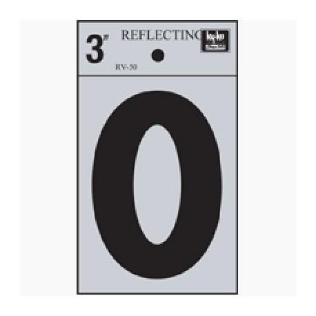 LETRA REFLECTIVA 3 O HY-KO. - Envío Gratuito