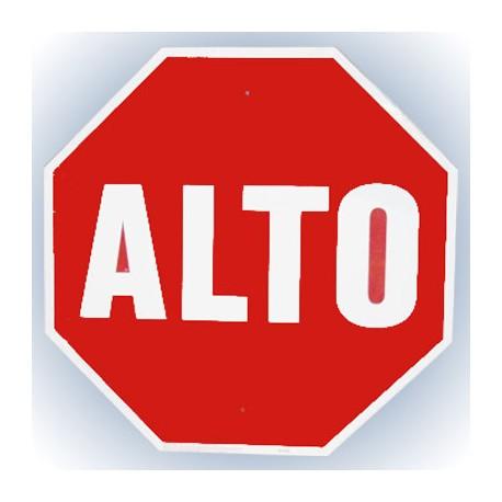 LETRERO ALUMINIO 46cm ALTO HY-KO. - Envío Gratuito