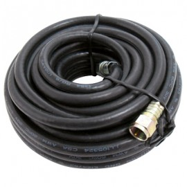 EXTENSION COAXIAL 25ft NEGRO POWER WORKS. - Envío Gratuito