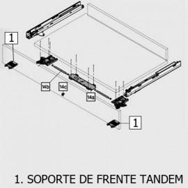 SOPORTE DE FRENTE TANDEM28X GRIS Z96.10E1 BLUM