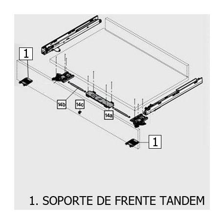 SOPORTE DE FRENTE TANDEM28X GRIS Z96.10E1 BLUM - Envío Gratuito